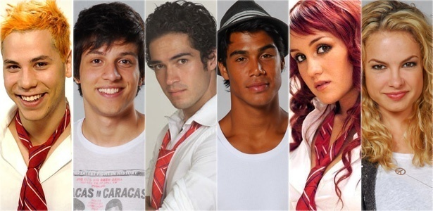 Christian Chavez, Chay Sued, Alfonso Herrera, Micael Borges Dulce Maria, Lua Blanco, atores das verses mexicana e brasileira de 
