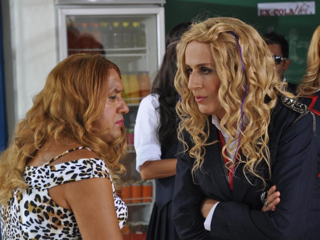 Tiririca e Tom Cavalcante no quadro