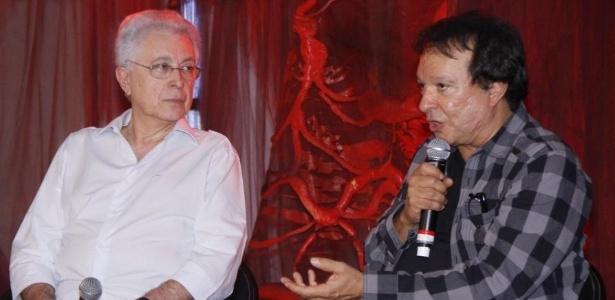 Aguinaldo Silva (à esq.) e Wolf Maya, dupla que trabalhará junta na próxima novela das 21h