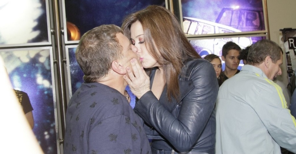 Jorge Fernando e Cláudia Raia na estreia de