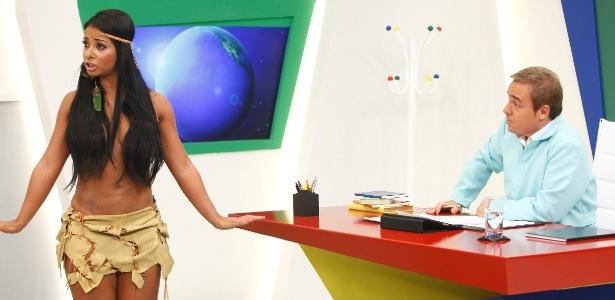 Cintia Santos (Índia Potira), na Escolinha do Gugu
