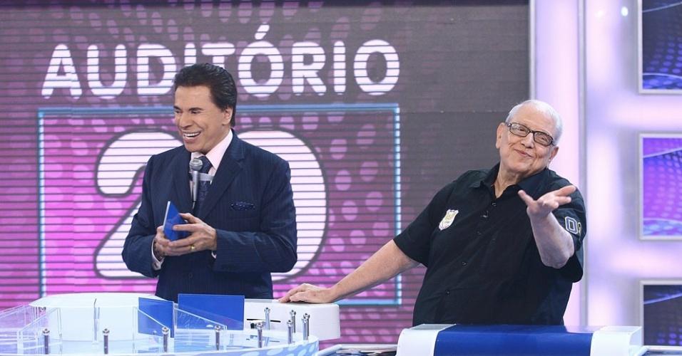 Silvio Santos e Ary Toledo no