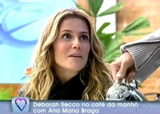 Deborah Secco no café da manhã com Ana Maria Braga (7/6/2011)