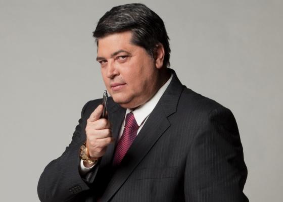 O apresentador José Luiz Datena, que assinou com a Record