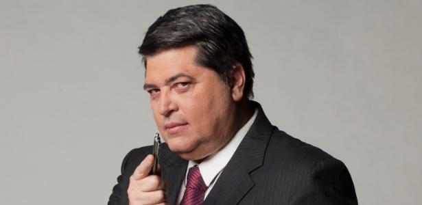O apresentador José Luiz Datena, que assinou com a Record recentemente (2011)