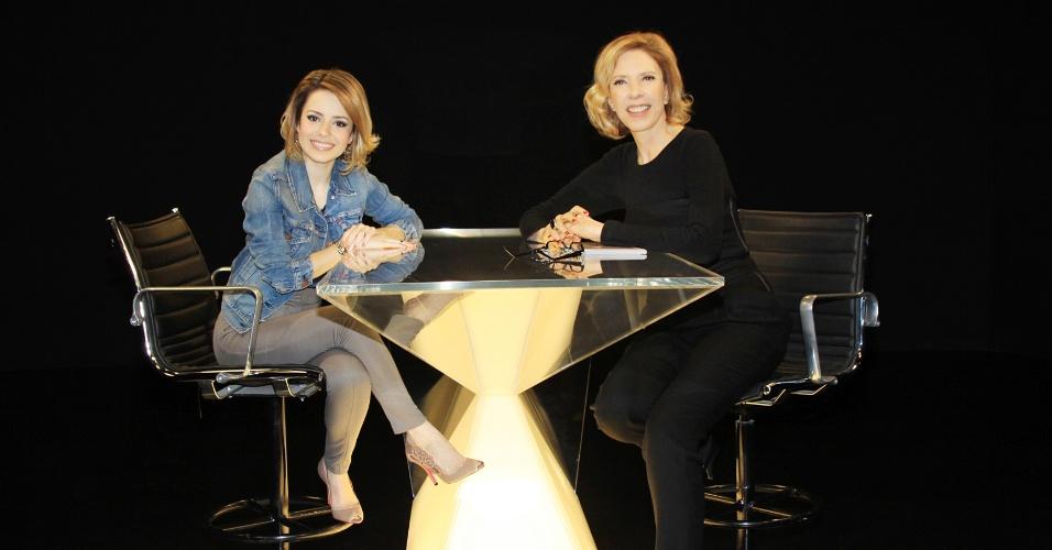 Sandy é entrevistada por Marília Gabriela no
