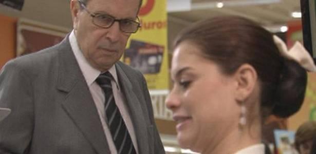 Daniel Filho e Alinne Moraes em cena de