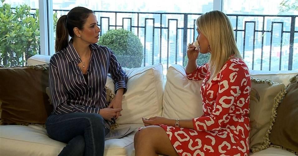 Luciana Gimenez entrevista Ana Hickmann em sua casa, em São Paulo (julho/2011)