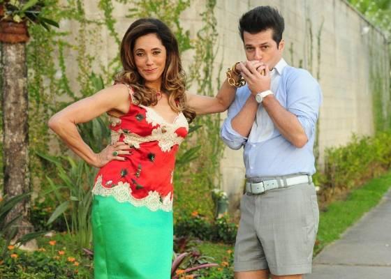 Christiane Torloni e Marcelo Serrado em cena de Fina Estampa (julho/2011)