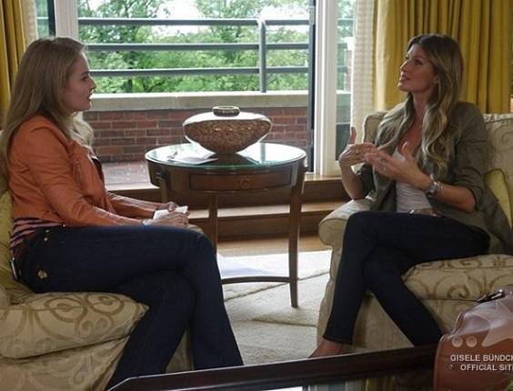 Anglica entrevista Gisele Bndchen em Boston (22/8/11)