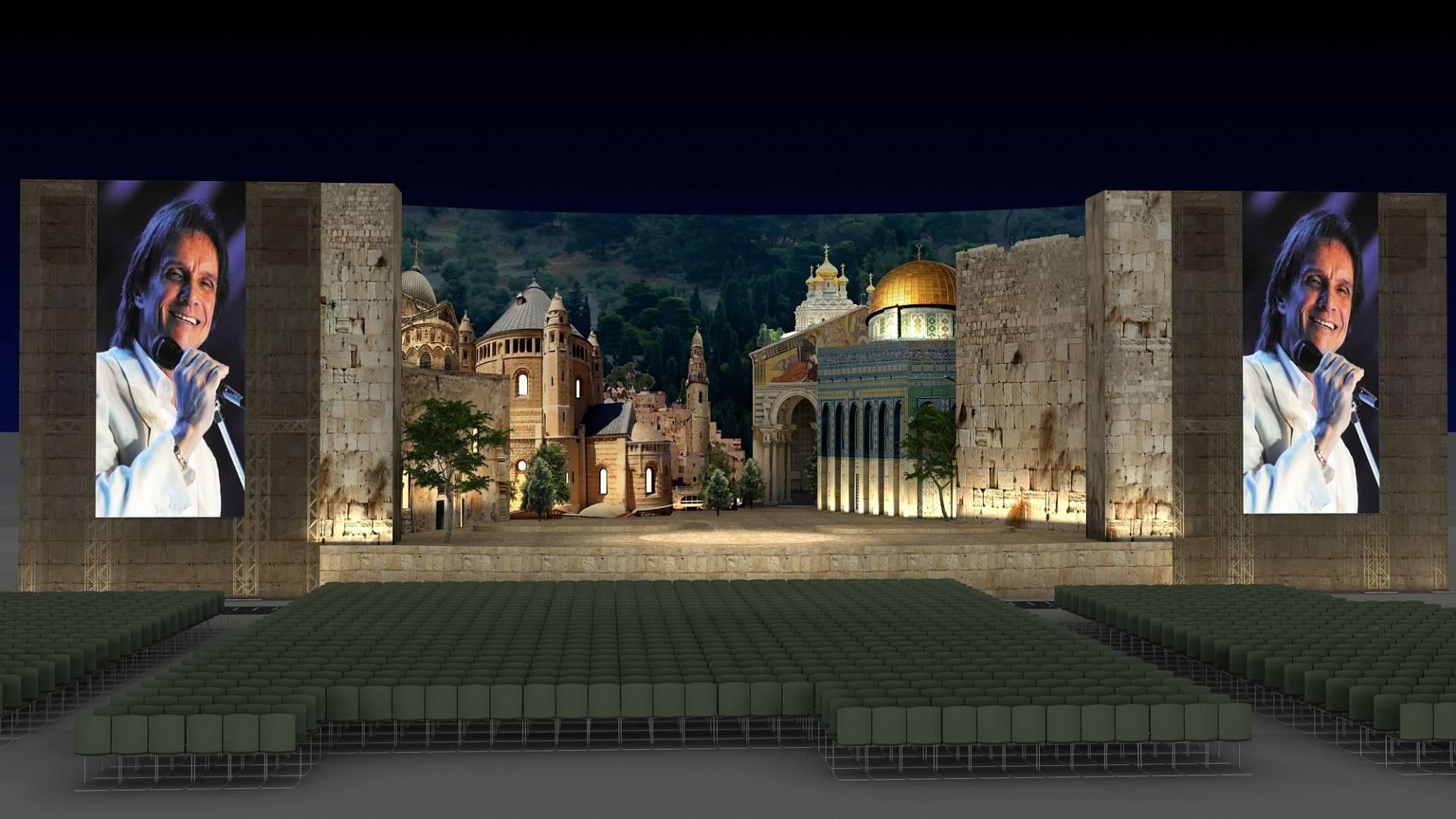 Foto do Sultan's Pool, em Jerusalém, onde acontecerá o show de Roberto carlos (7/9/2011)