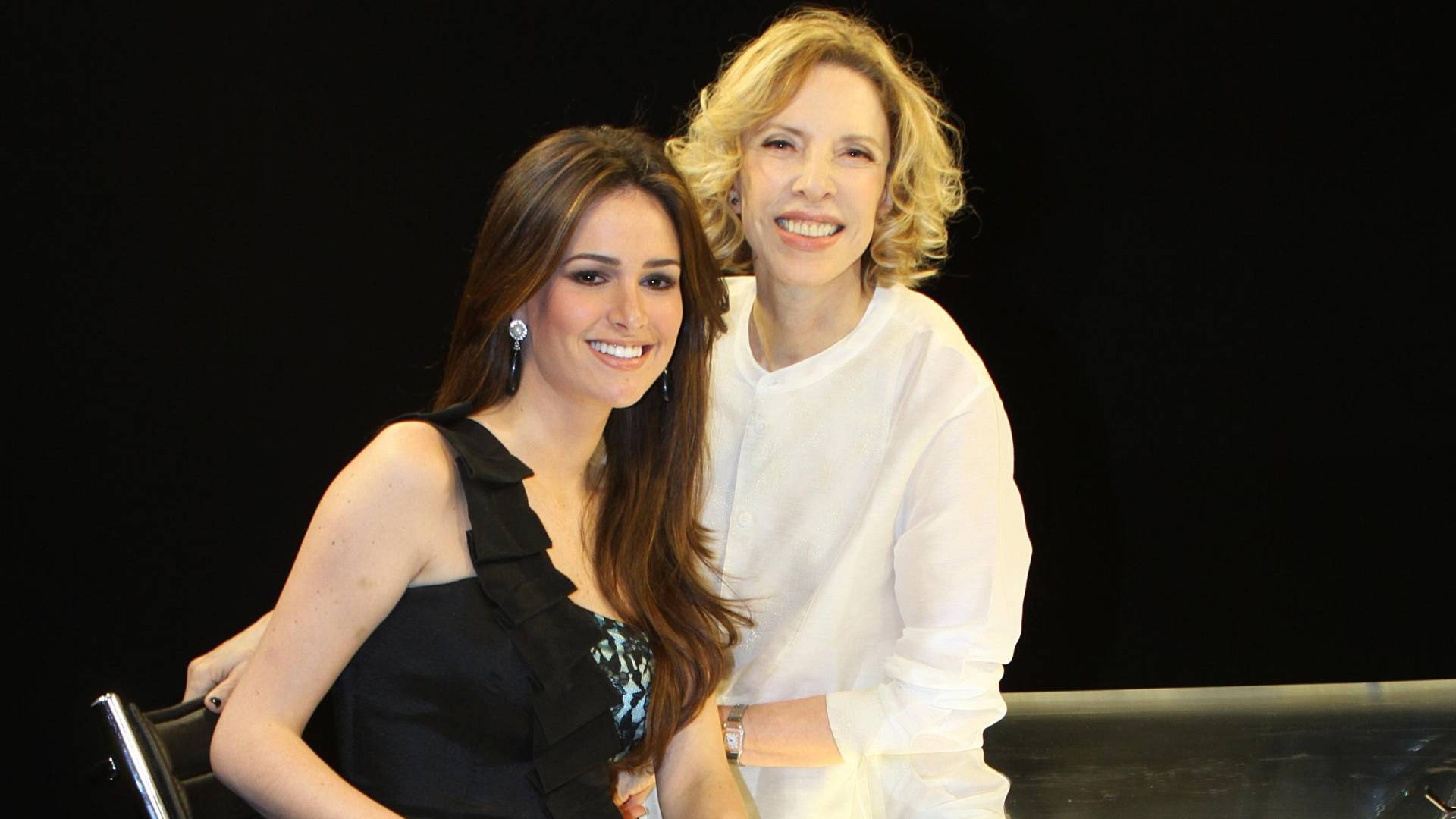 Priscila Machado é entrevistada por Marília Gabriela no