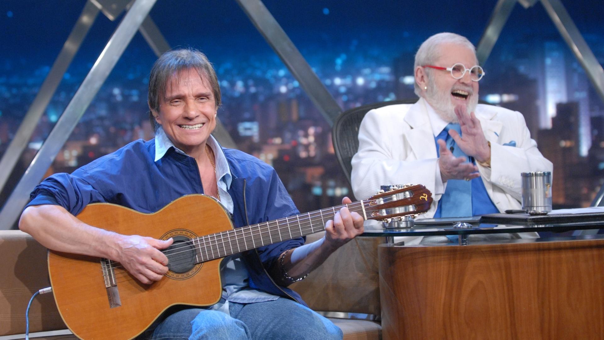 O cantor Roberto Carlos participou do programa do Jô (14/9)