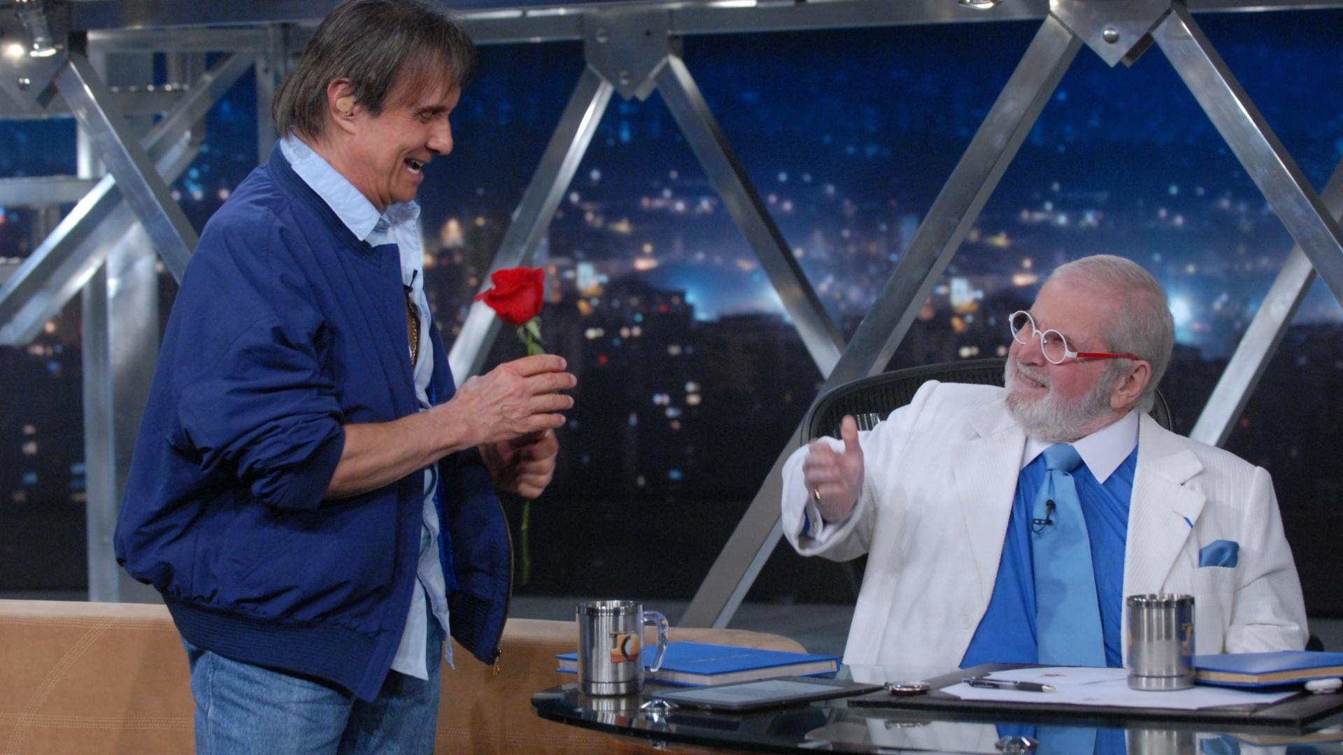 O cantor Roberto Carlos participou do
