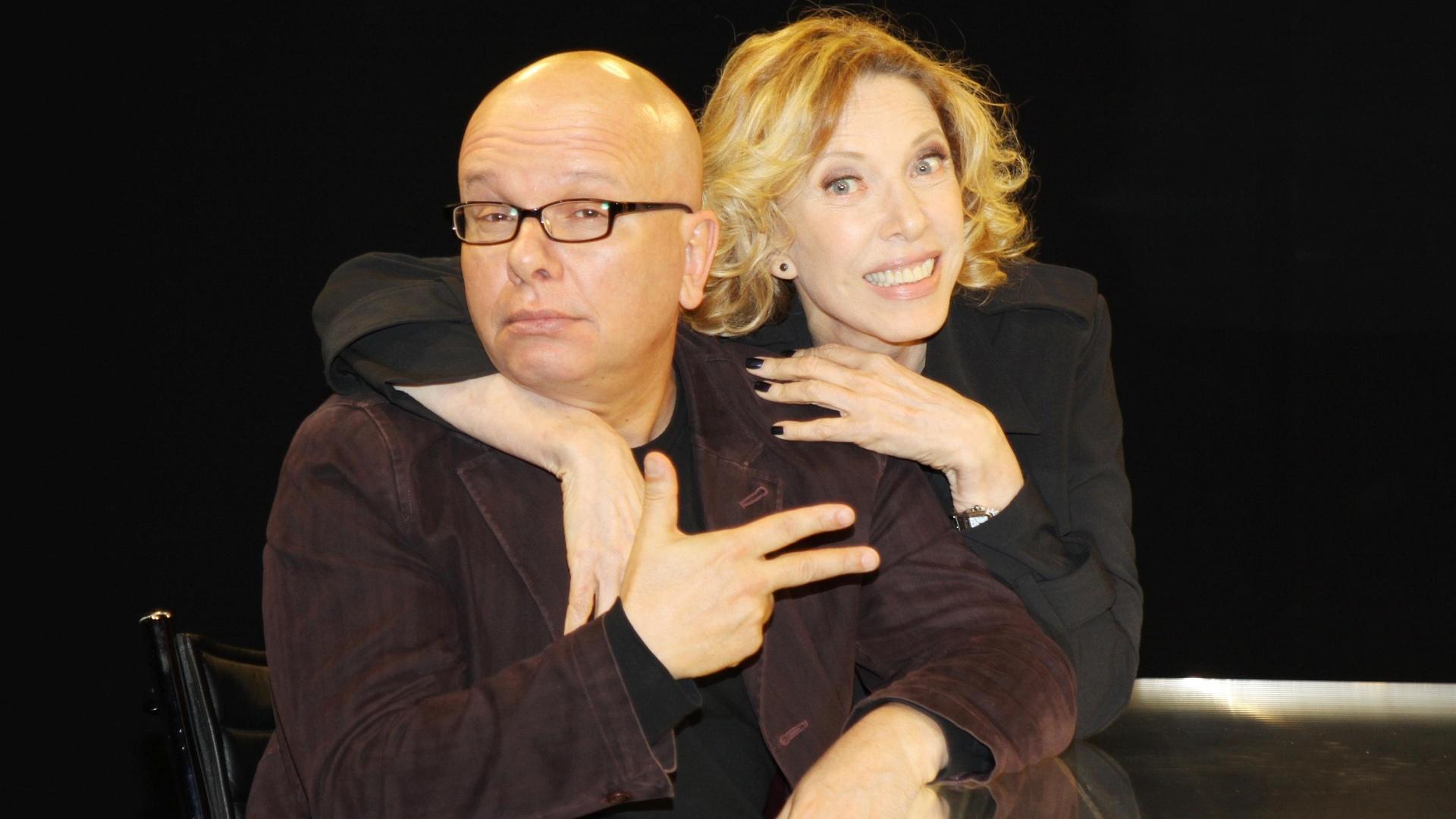 Marcelo Tas e Marília Gabriela no