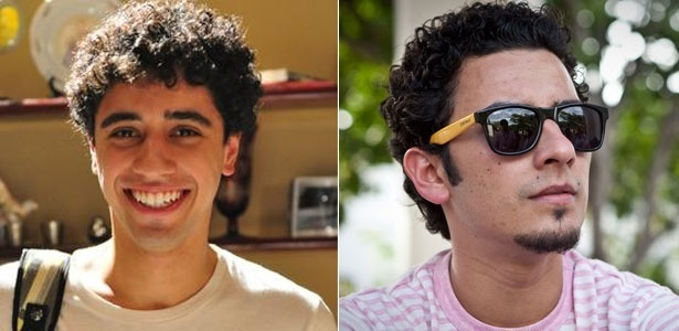 O personagem Ziggy, à esquerda, e o publicitário Rafael Ziggy, à direita, são parecidos também fisicamente