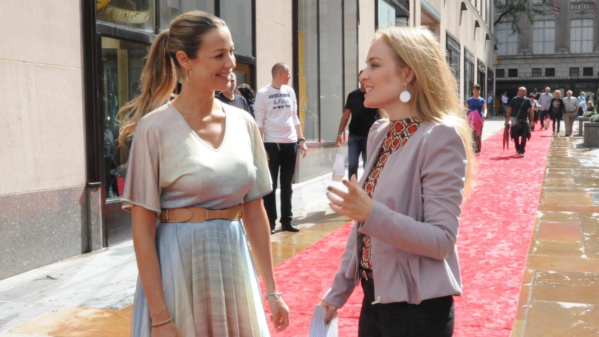 Angélica e Luana Piovani em Nova York (15/10/2011)