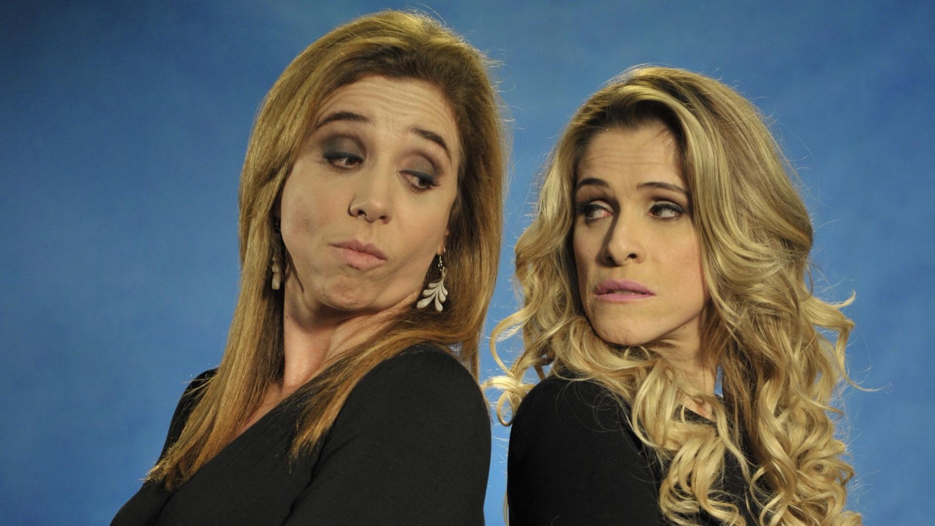 Valéria (Marisa Orth) e a patricinha chamada Helô (Ingrid Guimarães) serão rivais na segunda temporada de