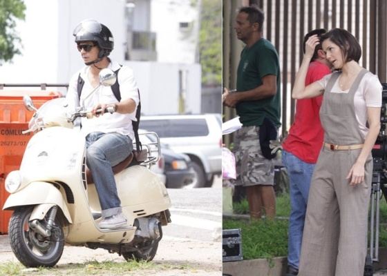 """Eduardo Moscovis e Deborah Secco gravam """"Louco por Elas"""" no Rio de Janeiro (25/11/2011)"""