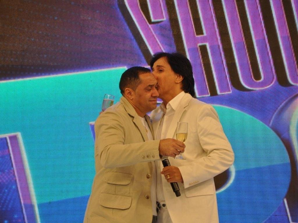 Tiririca e Tom Cavalcante gravam especial de fim de ano do