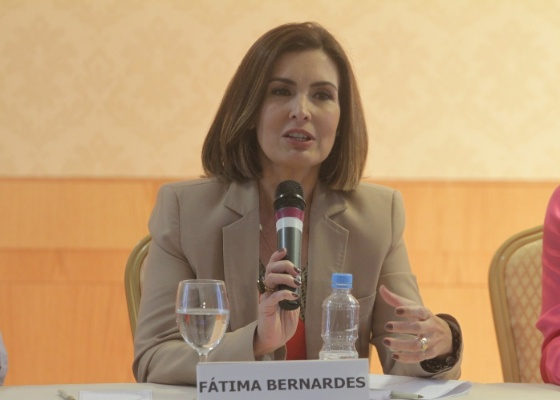 """A apresentadora Fátima Bernardes anuncia sua saída do """"Jornal Nacional"""" em coletiva no Rio de Janeiro (1/12/11)"""