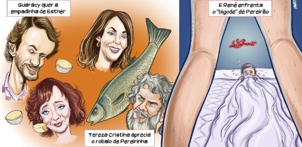 Chargista satiriza cap�tulo de Fina Estampa em que Ren� transa com Pereir�o pela primeira vez