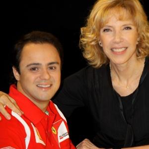 A apresentadora Marília Gabriela recebe o apresentador Felipe Massa neste domingo (11)