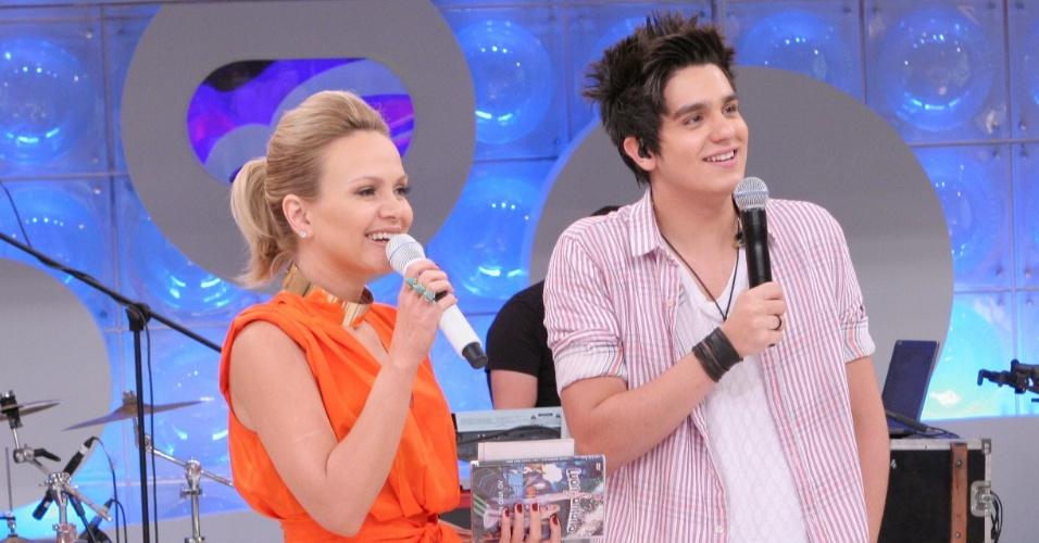 Eliana entrevista o cantor Luan Santana (15/1/2012)