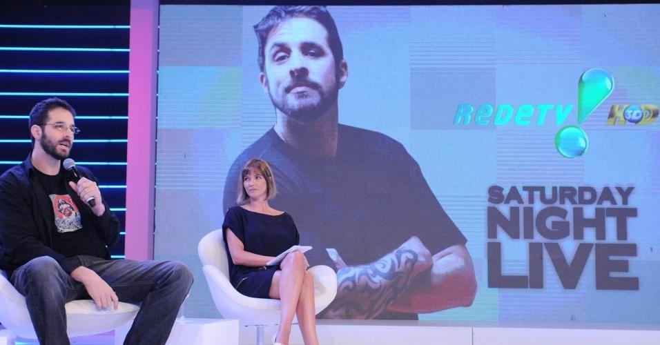 Rafinha Bastos na apresentação de