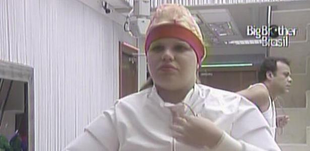 Paula prepara-se para prova da comida deste domingo (20/3/11)