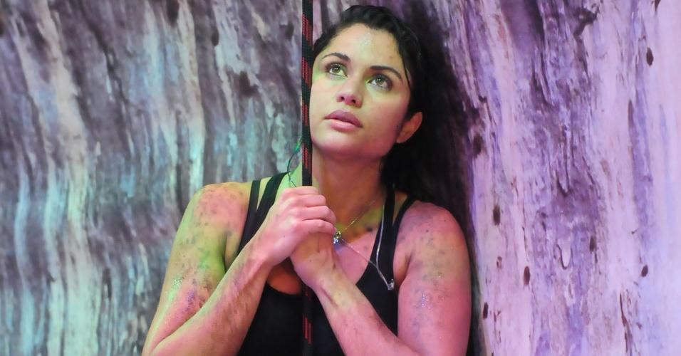 Maria resistiu mais do que os outros e venceu a primeira etapa da prova do líder (24/3/11)