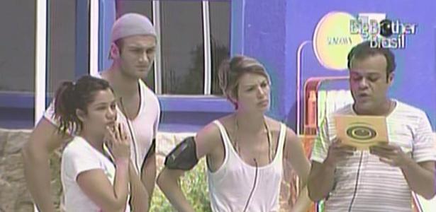 Daniel, Diana, Maria e Wesley se preparam para prova surpresa deste domingo (27/3/11)