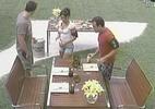 Daniel, Maria e Wesley ganham almoço especial no último dia de confinamento