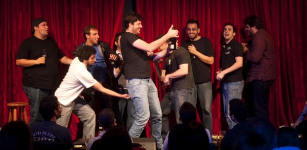 Danilo Gentili e humoristas encerram a Rirtrospectiva 2011; evento deste ano terá transmissão ao vivo pela TV UOL, direto do Comedians, em São Paulo, na segunda (17), a partir das 21h - Rogério Cassimiro / UOL