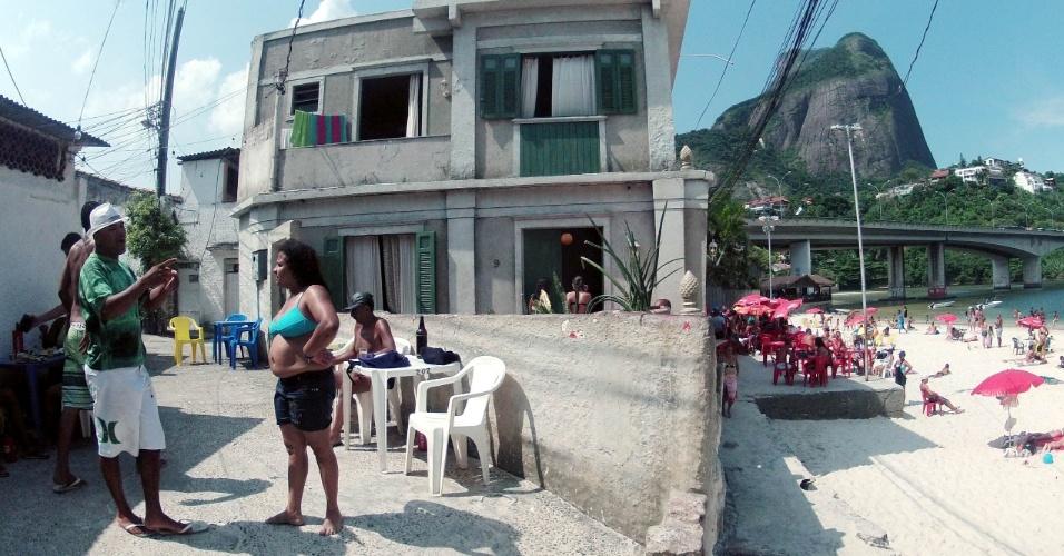 """Frente da casa onde a personagem Griselda morava em """"Fina Estampa"""""""