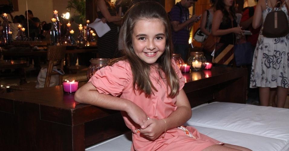"""Klara Castanho em apresentação para a imprensa da novela """"Amor Eterno Amor"""", no Rio de Janeiro. A atriz vai interpretar Clara (14/2/12)"""