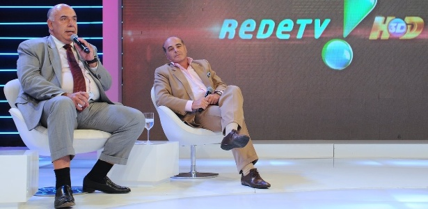 Amilcare Dallevo e Marcelo de Carvalho, presidente e vice-presidente da Rede TV! (1/3/12)