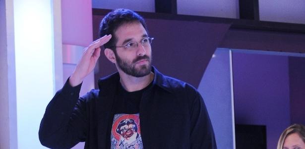"""O humorista Rafinha Bastos participa de coletiva de imprensa da """"Rede TV!"""" (1/3/12)"""