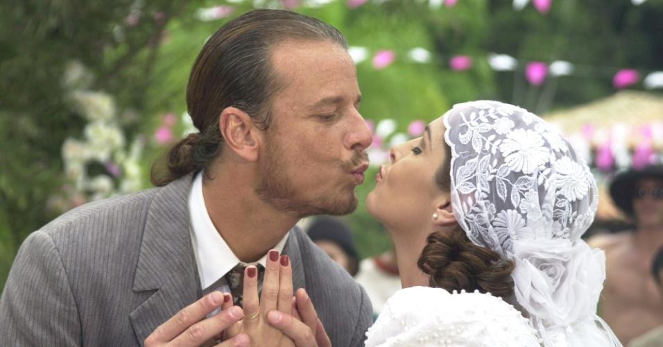 """Casamento de Márcia (Drima Moraes) e Timóteo (Marcello Novaes) em """"Chocolate com Pimenta"""""""