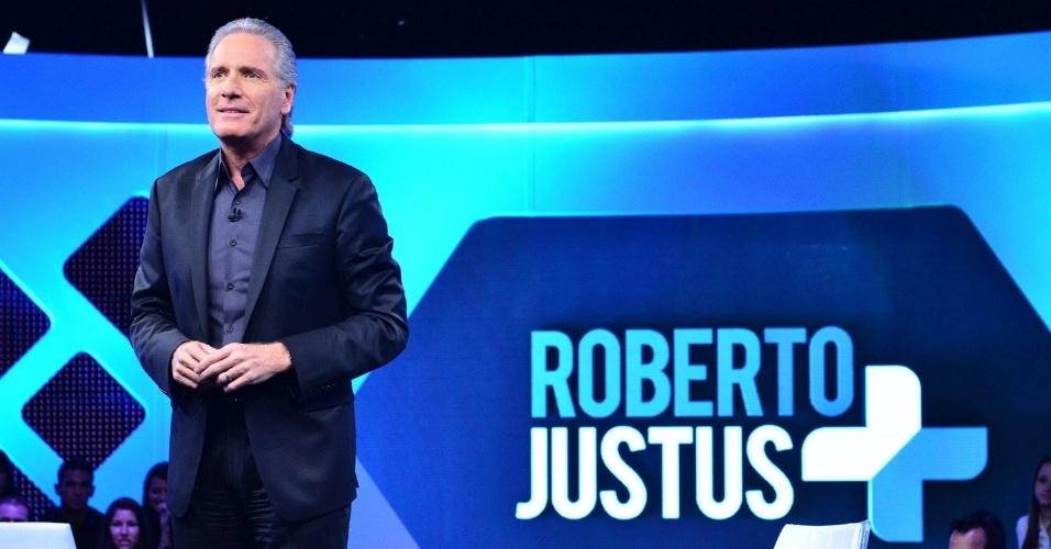 """O talk show """"Roberto Justus +"""", sob o comando do empresário, vai estrear na próxima segunda-feira (12) na Record. Com um ar mais despojado, o apresentador deverá unir informação e entretenimento"""