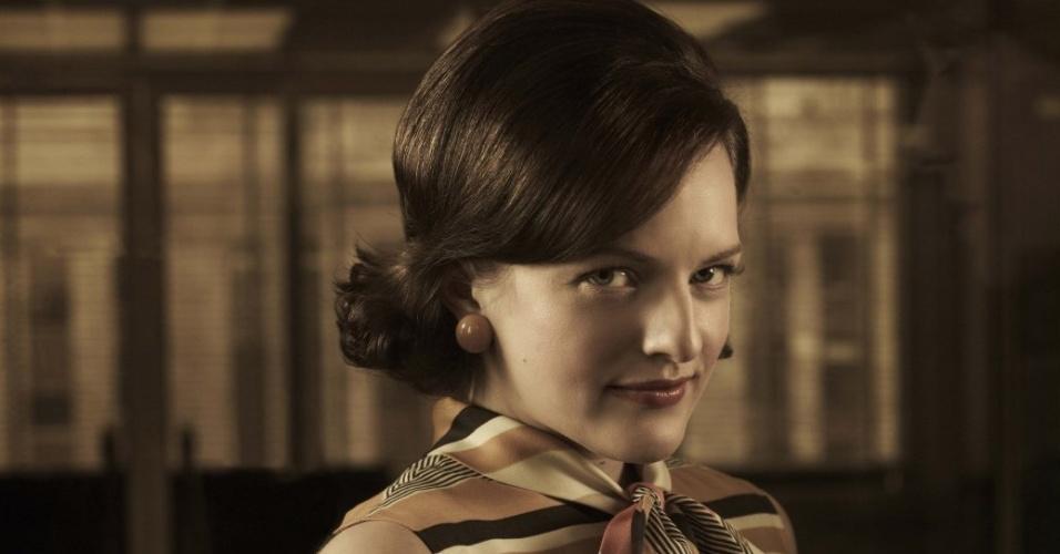 Peggy Olson (Elisabeth Moss) em imagem da 5ª temporada de Mad Men