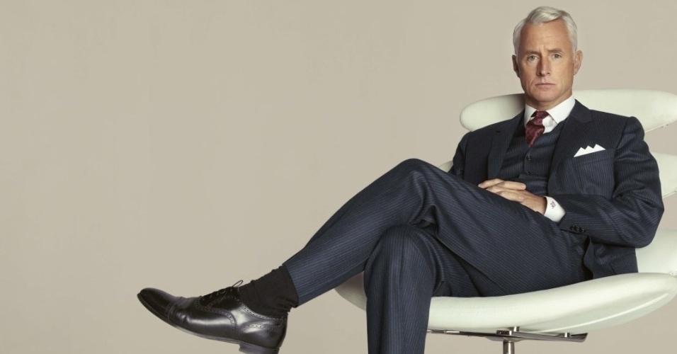 Roger Sterling (John Slattery) em imagem da 5ª temporada de Mad Men