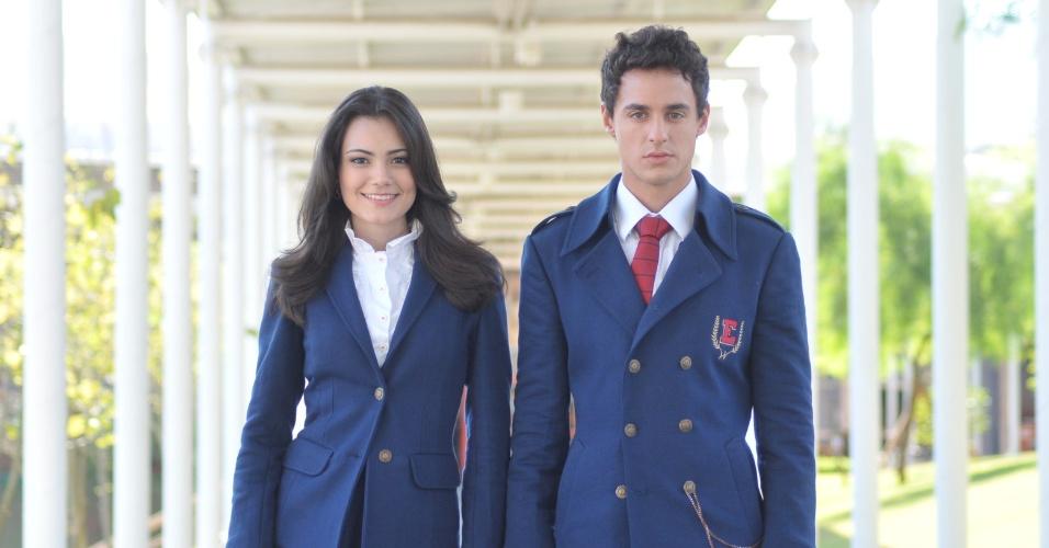 """Ully Lages e Thiago Amaral são os gêmeos Lucy e Miguel em """"Rebelde"""""""