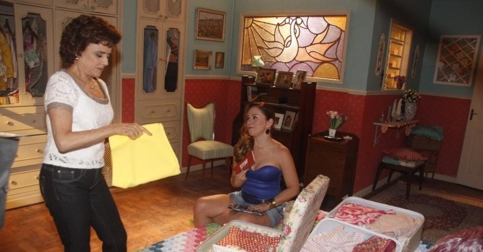 """Marieta Severo e Guta Stresser gravam episódio da 12ª temporada de """"A Grande Família"""" (19/3/2012)"""