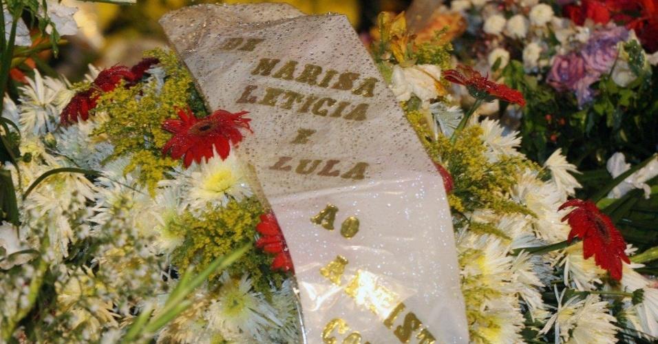 Ex-presidente Lula e a ex-primeira dama Marisa Letícia enviam coroa de flores para o velório de Chico Anysio, no Theatro Municipal do Rio de Janeiro. Humorista morreu na tarde de sexta-feira (23) em decorrência de falência de múltiplos órgãos (24/3/2012)