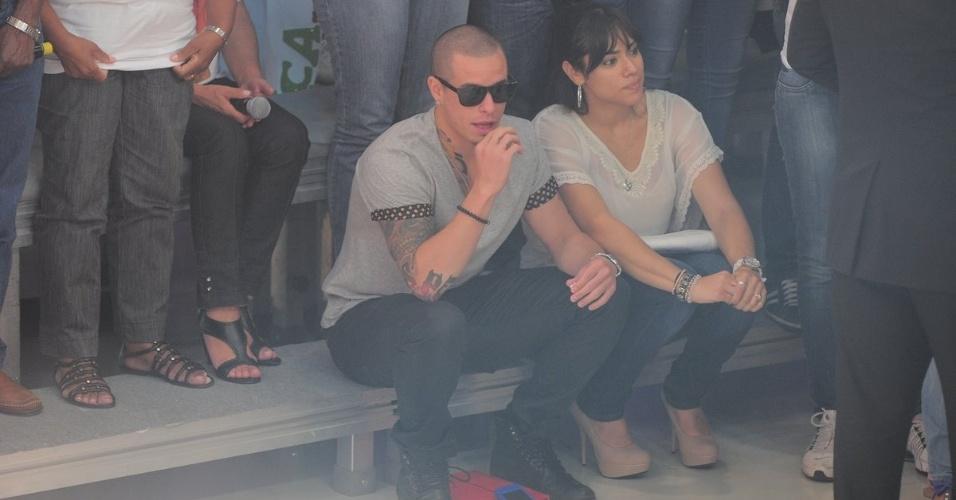 """O namorado de Jennifer Lopez, Casper Smart, assiste a gravação do programa """"O Melhor do Brasil"""" (26/3/2012)"""