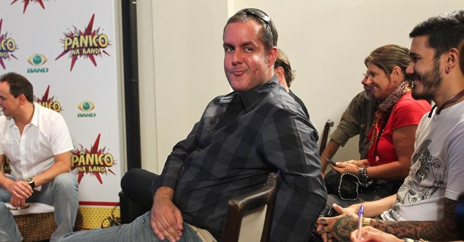 Alan Rapp, diretor do Pânico, em evento para comemorar a estreia do programa na Band (27/3/12)