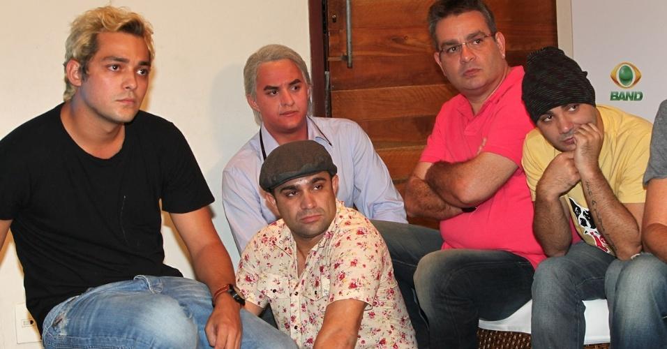 """Equipe de humoristas do """"Pânico"""" prestigia lançamento do programa na Band. A estreia está confirmada para este domingo, 1 de abril, às 21h (27/3/12)"""