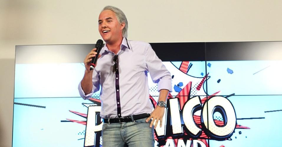 """Guilherme Santana, ex-MTV, prestigia lançamento do """"Pânico"""" na Band (27/3/12)"""