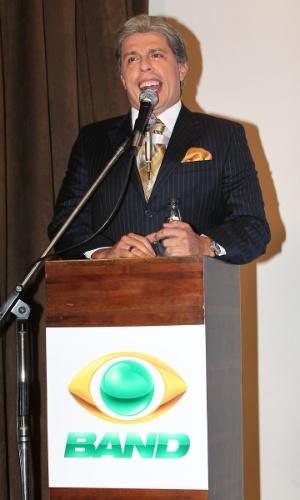 """Wellington Muniz, o Ceará, fala com a imprensa no lançamento de """"Pânico"""" na Band (27/3/12)"""